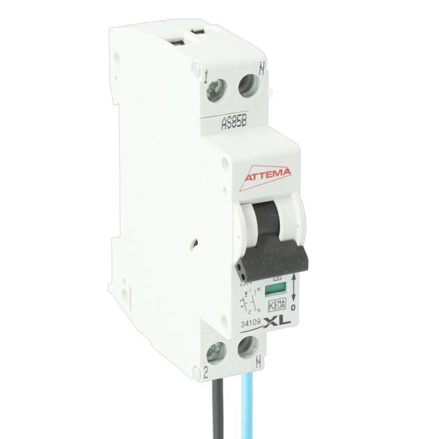 Installatie-automaat 1p+N, 16A. B-karakteristiek met aansluitdraden
