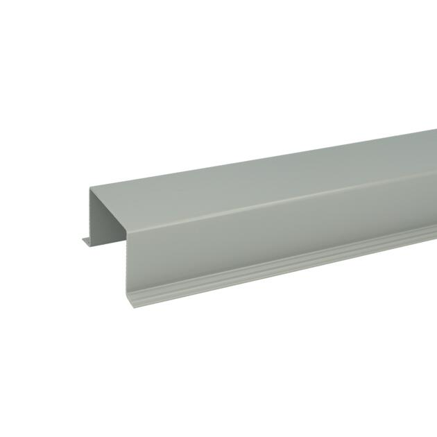 Wall cable duct 40x80x40 grey (RAL 7042)