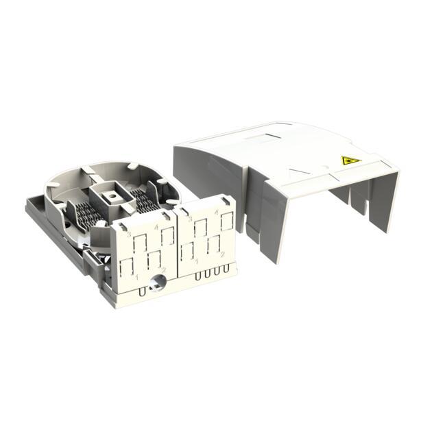Hausübergabepunkt HÜP, 2 Fasern, 1 LC/APC DX, Shutter