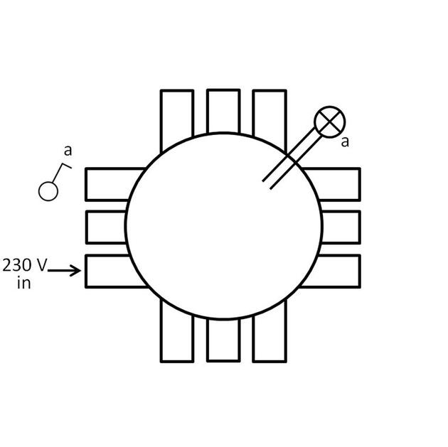 CHS75-E0, enkelpolige schakeling