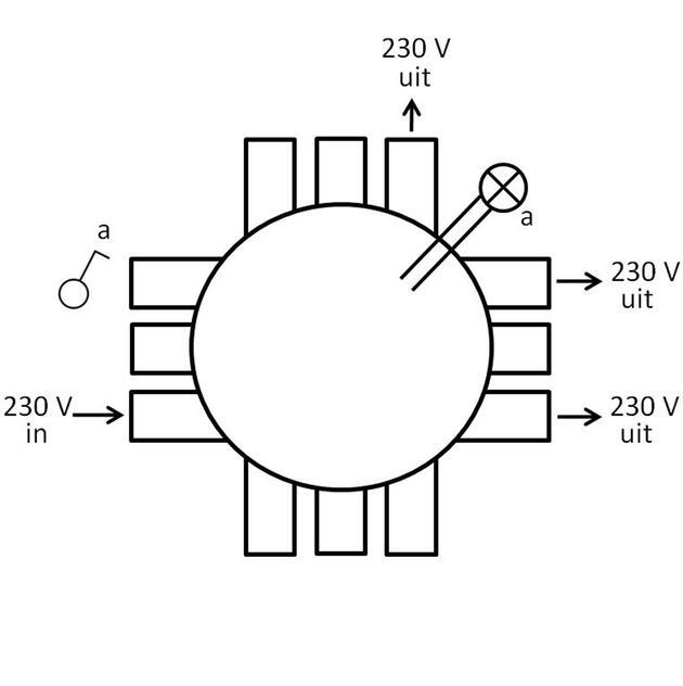 CHS75-E3, enkelpolige schakeling