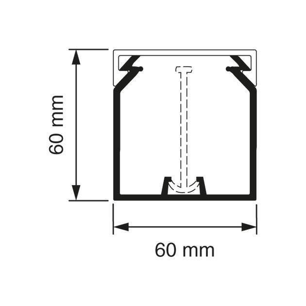 KK 60x60 Kabelkoker wit (RAL 9010)