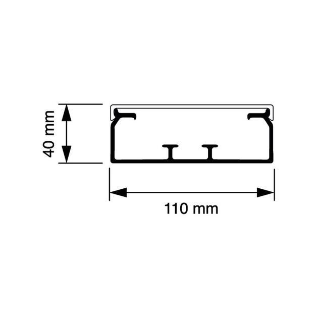 KG 110x40 Kabelkoker wit (RAL 9010)
