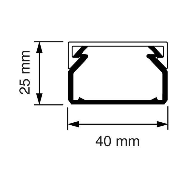 KK 40x25 Kabelkoker grijs (RAL 7030)