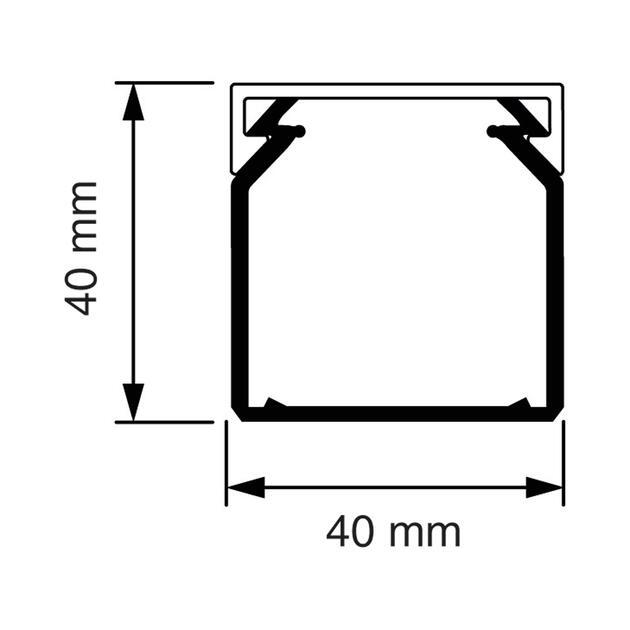 KK 40x40 Kabelkoker wit (RAL 9010)