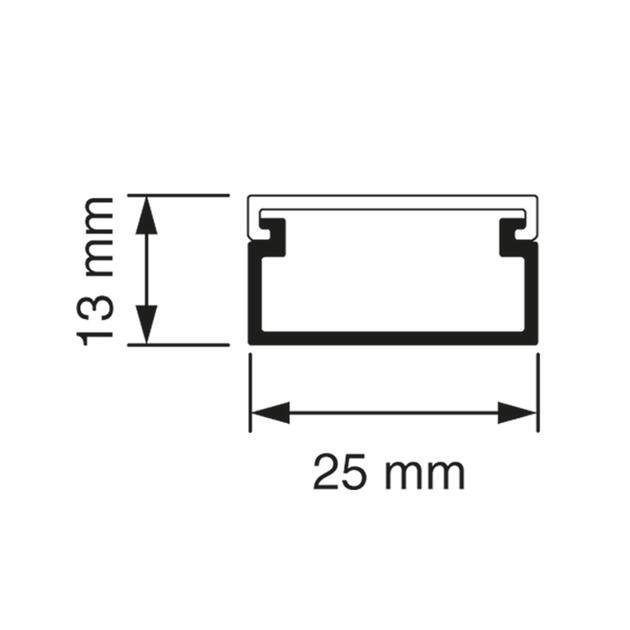 Z25 Cable raceway 2 m white (RAL 9010)