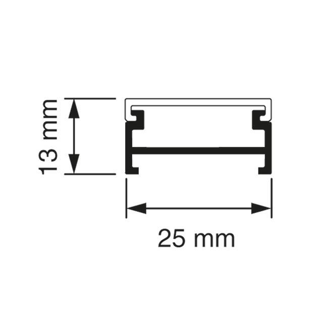 K25 Koker + deksel 4 meter crème (RAL 1013)