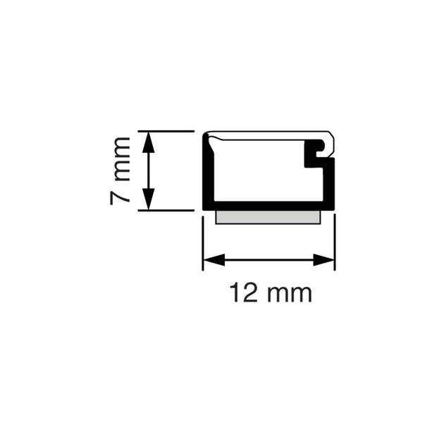 SK 7x12 Mini-koker wit (RAL 9010)