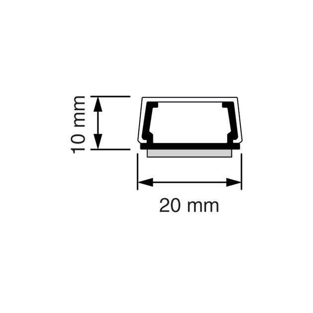 MK 10 Mini-koker met plakstrip wit (RAL 9010), met plakstrip
