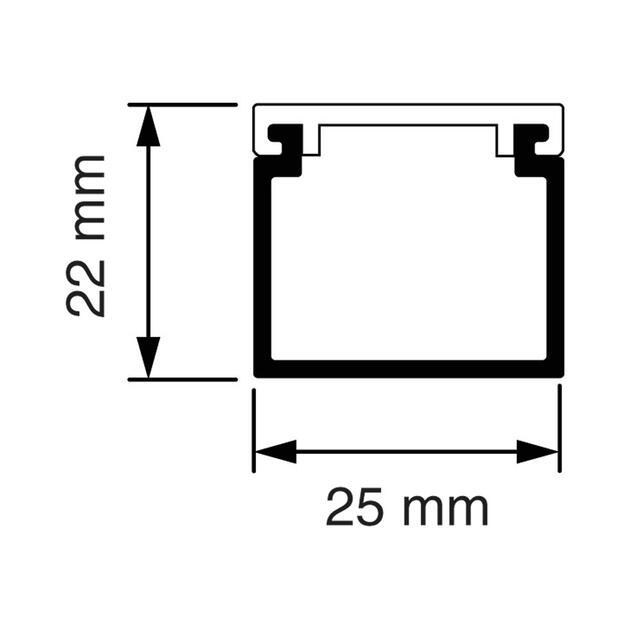 KK 25x22 Kabelkoker (3m.) crème (RAL 1013)