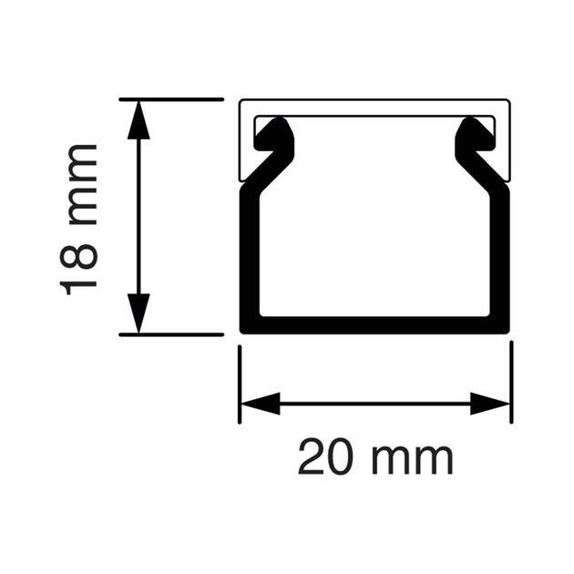 KK 20x18 Kabelkoker wit (RAL 9010)