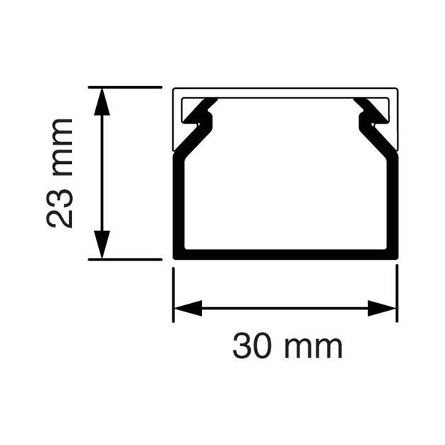 KK 30x23 Kabelkoker wit (RAL 9010)