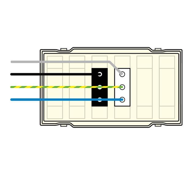 BKW Deksel, 2x3p (1+1 geschakeld) WIELAND