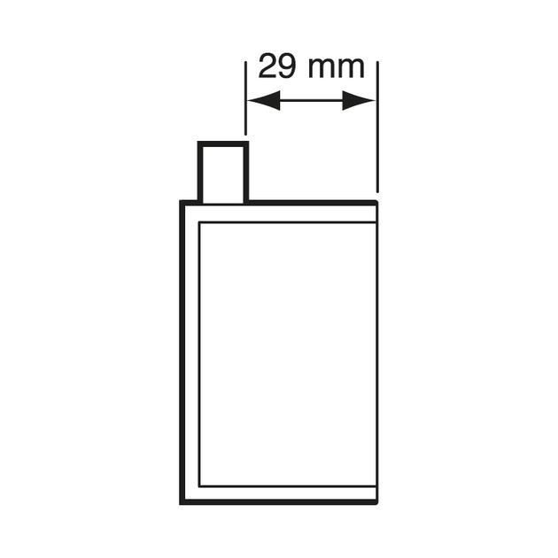 UHW50-BW / RD rookdichte Hollewand inbouwdoos Ø 16/19 mm