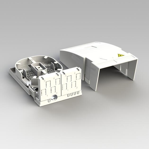 Hausübergabepunkt HÜP, 10 Fasern, 5 LC/APC DX, Shutter